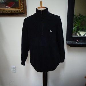 EUC LACOSTE Man's Cotton Half-Zip Knit Top Size 5